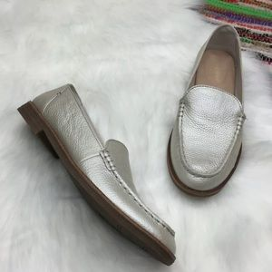 NEW Sperry Waypoint Metallic Loafer 8 Silver